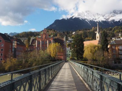 Austria-bridge-city-and-mountains