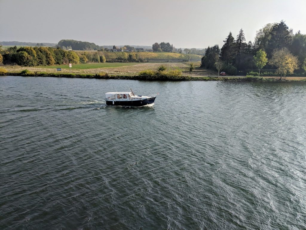 Best Vacations - Small boat on the Moselle River